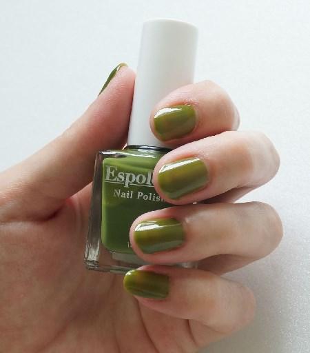 エスポルール55番オリーブグリーン爪見本